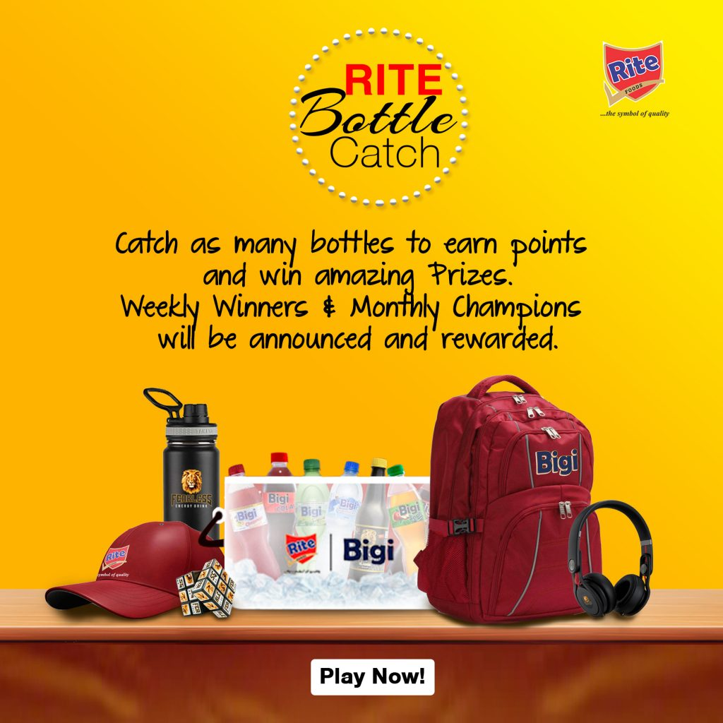 Rite Bottle Catch - Play and Win lots of amazing Prizes