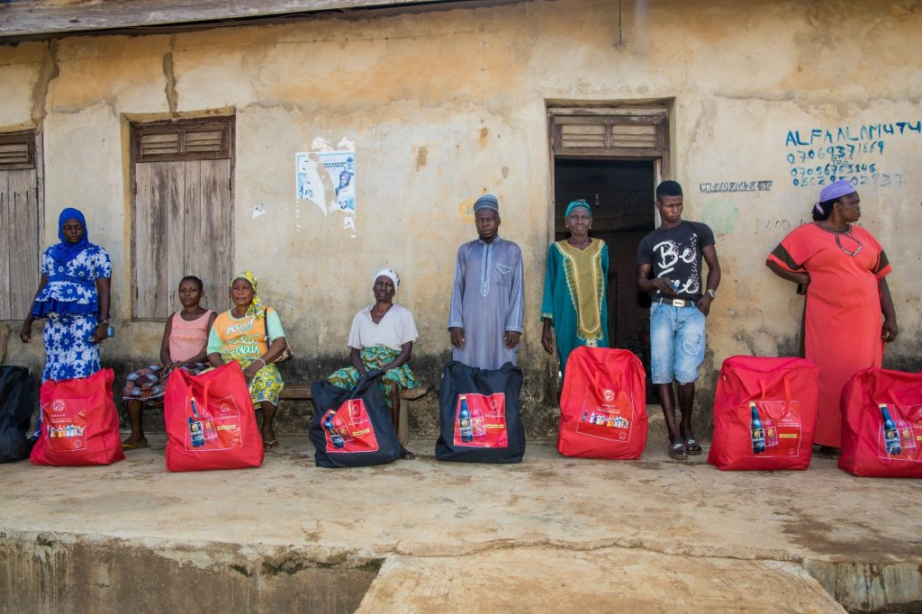 Delivering packages to families in Ijebu