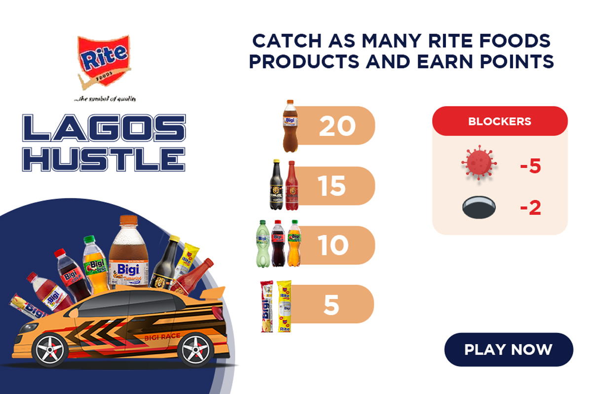 Rite Car Race - Get Bigi Points and win Amazing prizes with airtime when you reach 800 points in th Lagos hustle