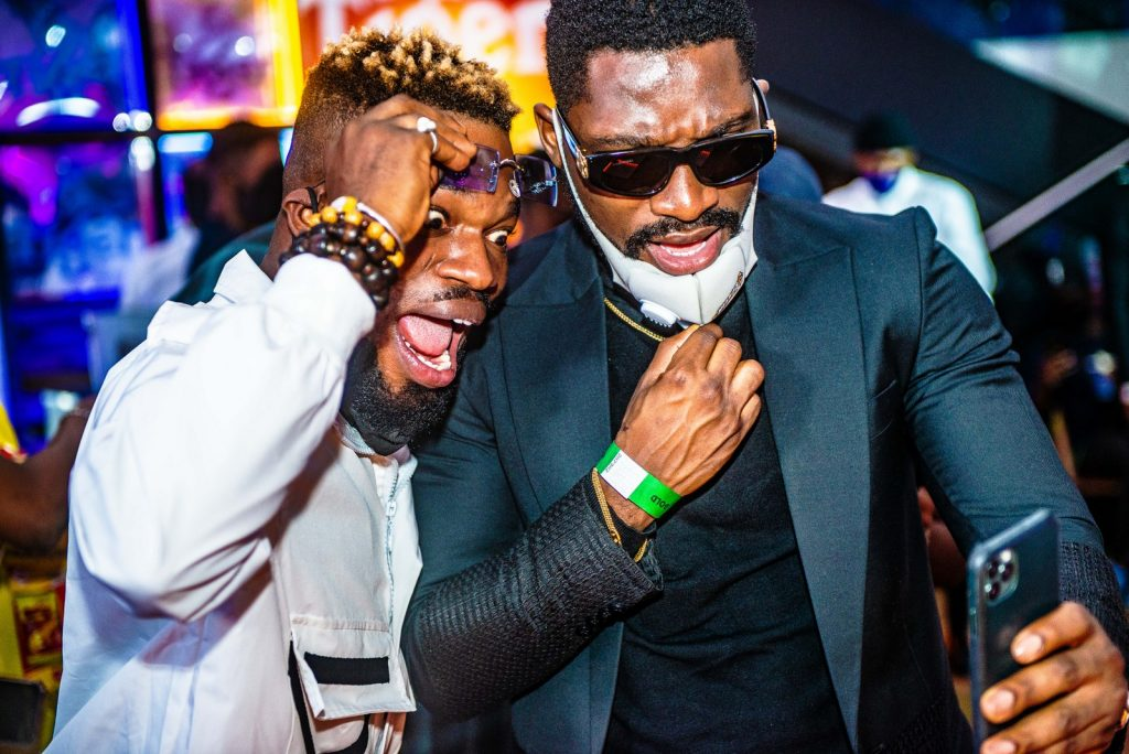 Broda Shaggi and Tobi Bakre at Headies Award Fearless
